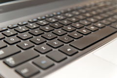 Laptop computer keyboard close-up Stock Photography