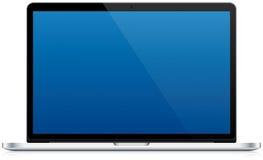 Laptop-Computer lokalisiert Stockfoto