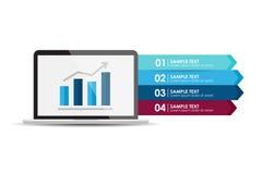 Laptop-Computer mit Analysebericht Stockfotos