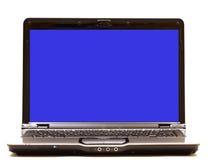 Laptop-Computer mit unbelegtem Überwachungsgerät Stockfotografie