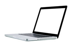 Laptop computer notebook isolation white display Stock Photos