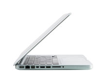 Laptop computer notebook isolation white display Stock Photography