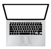 Laptop Computer PC with space for your message. Vector illustration Royalty Free Stock Photography