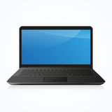 Laptop Computer PC  on white. Vector illustration Royalty Free Stock Photo