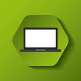 Laptop computer portable icon Royalty Free Stock Images