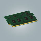 Laptop Computer RAM Royalty Free Stock Image