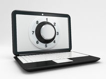 Laptop or computer security concept. 3d high quality render Royalty Free Stock Photos