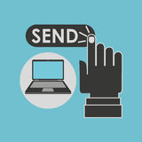 Laptop computer send email icon Royalty Free Stock Photo