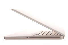 Laptop computer side view Stock Photos