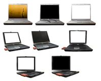 Laptop computer technology. Image of an opened laptop with the screen ready to edit Stock Image