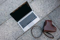 Laptop computer technology online education Stock Photo