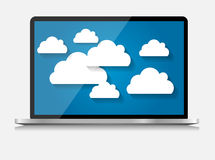 Laptop Computer Vector Illustration Royalty Free Stock Photo
