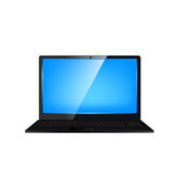 Laptop computer. Vector illustration. Royalty Free Stock Images