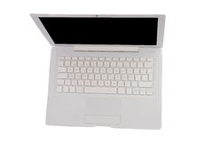 Laptop computer viewed from above Royalty Free Stock Photos
