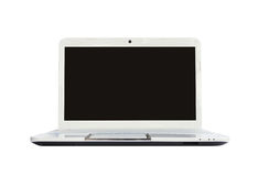 Laptop computer on white background Stock Photography