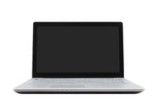 Laptop computer on white background Royalty Free Stock Photos