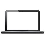Laptop Computer With White Screen Royalty Free Stock Images