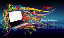 Laptop computerillustratie royalty-vrije illustratie