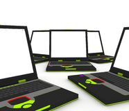 Laptop computers Royalty Free Stock Images