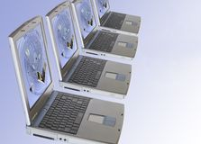 Laptop computers Stock Images