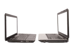 Two laptop computers Stock Images