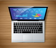 Laptop concept - top view Stock Photography