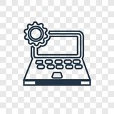 Laptop concept vector linear icon isolated on transparent background, Laptop concept transparency logo in outline style stock illustration