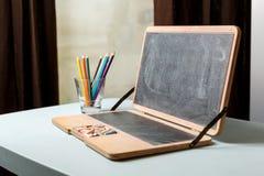Laptop configuration Chalkboard Royalty Free Stock Photos