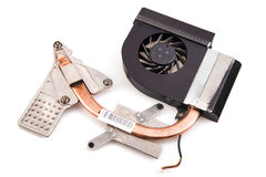 Laptop cooler for powerful CPU Royalty Free Stock Image