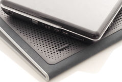Laptop On Cooling Pad Stock Images