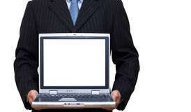 Laptop with copy area on screen Stock Image