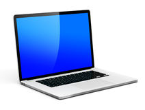 Laptop With Copy Space. 3D generated laptop with copy space vector illustration