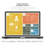 Laptop Copyspace Infographic Element Stock Images
