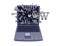 Laptop Crash Stock Image