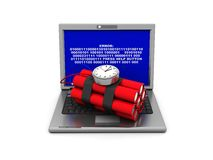 Laptop crash Royalty Free Stock Images