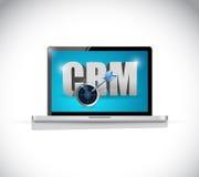 Laptop crm sign illustration design Stock Images