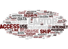Laptop On Cruise Word Cloud Concept. Laptop On Cruise Text Background Word Cloud Concept Royalty Free Stock Photos
