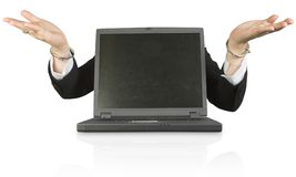 Laptop customer services - what's up Royalty Free Stock Images