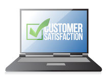 Laptop customer support review illustration Royalty Free Stock Image