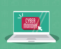 Laptop and cyber monday design Royalty Free Stock Photography