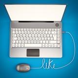 Laptop 3D illustrator Stock Photos