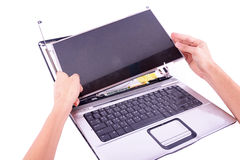 Laptop damage Royalty Free Stock Photography