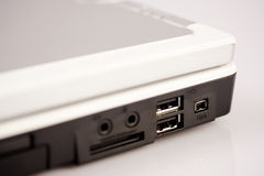 Laptop data ports Royalty Free Stock Image