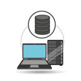 Laptop data server center icon. Vector illustration eps 10 Royalty Free Stock Image