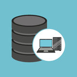 Laptop data server center icon. Vector illustration eps 10 Royalty Free Stock Photos