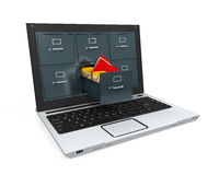 Laptop Data Storage Royalty Free Stock Images