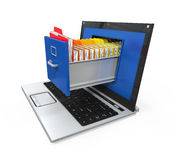 Laptop Data Storage Royalty Free Stock Photo