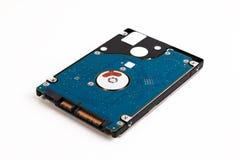 Laptop 2 de harde schijf van 5 die duimsata op een witte achtergrond wordt geïsoleerd Stock Foto