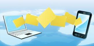 Laptop de overdracht van de telefoonomslag Royalty-vrije Stock Foto