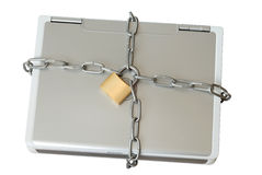 Laptop in den Ketten lizenzfreies stockbild